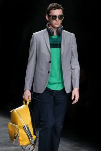 Fendi-Yellow-with-Black-Crocodile-Tail-Backpack-Bag-Mens-SpringSummer-2015