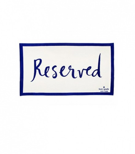 kate spader reserved towel
