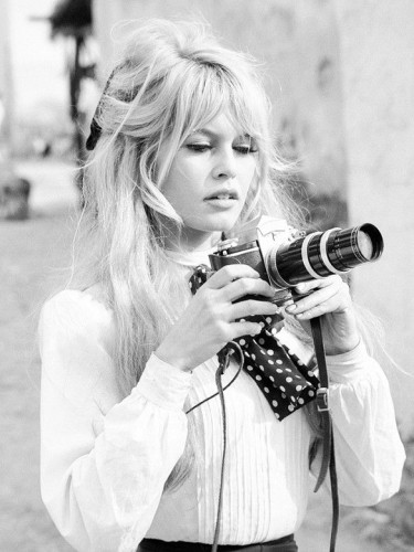 brigitte bardot white blouse with a polka dot neck tie