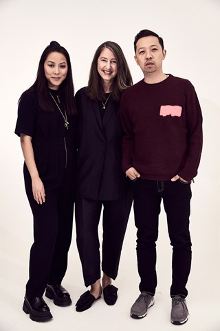 ann sofie johansson with carol lim and humberto leon