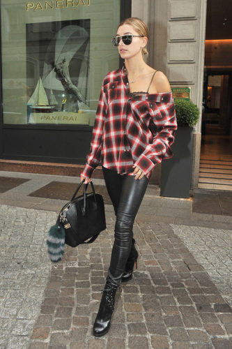 plaid-shirt-and-leather